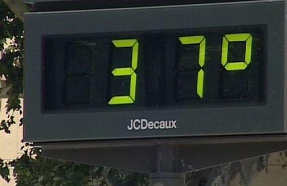 Termómetro en las calles de Compostela