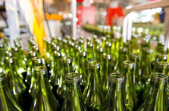 Botellas de vidrio para reciclar