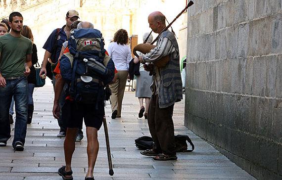 gaitero en Compostela