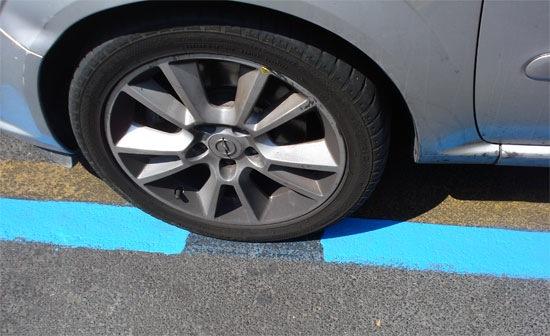 zona azul de aparcamiento de pago