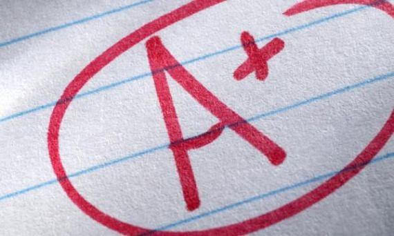 nota de un examen