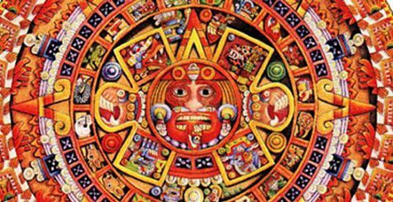 Imagen con motivos mayas