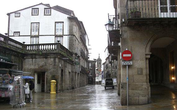 Santiago de Compostela lloviendo