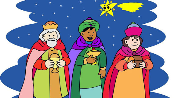 Dibujo de los Reyes Magos de Oriente