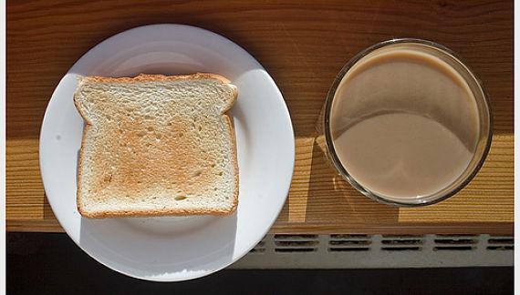 Un café y una tostada