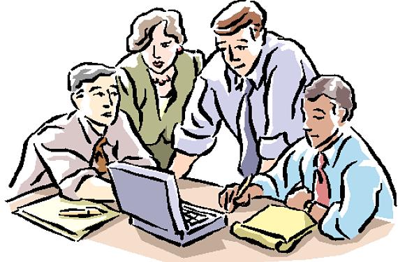 Grupo de trabajadores en una oficina