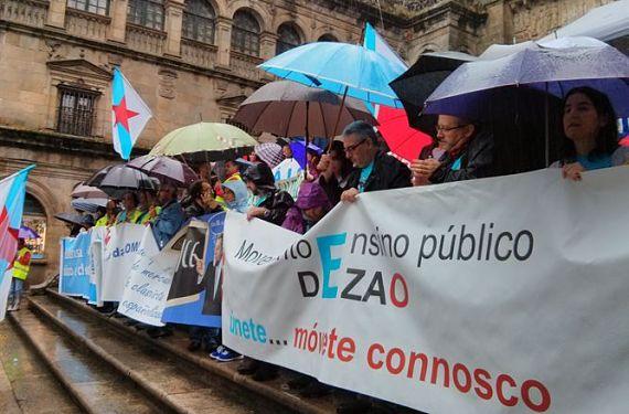 Manifestación contra la Lomce en Santiago de Compostela