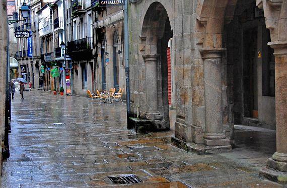 Llueve en Compostela